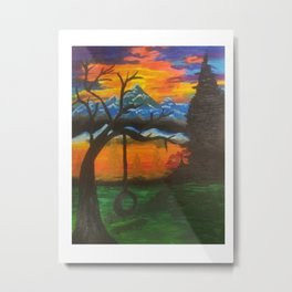 lonely thinking Metal Print