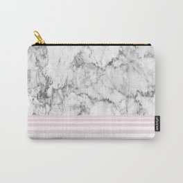 Candy Stripe Marble Carry-All Pouch
