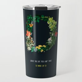 Dream Floral Motivational Quote Travel Mug