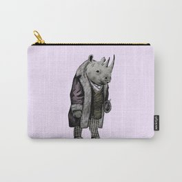 Animals in Suits - Black Rhino Carry-All Pouch