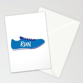 Running Shoes Stationery Cards