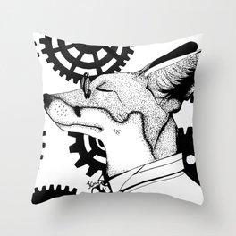 Dapper Fox Throw Pillow
