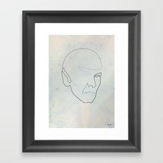 One line Spock Framed Art Print