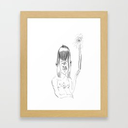 Peace-out Cyclops Framed Art Print