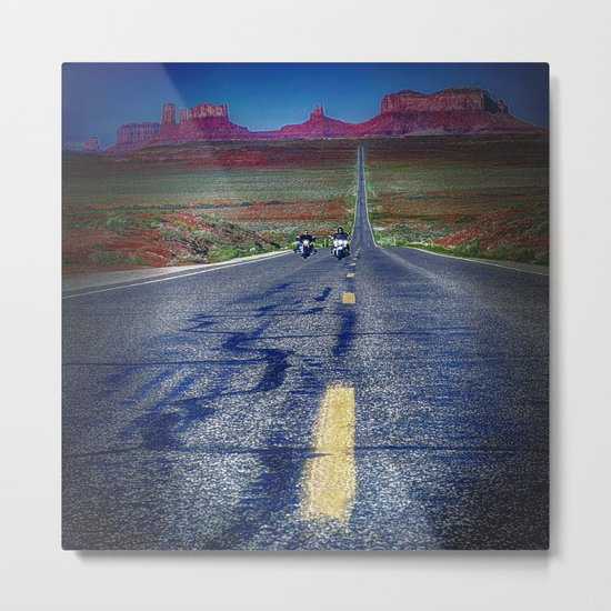 Monument Valley Twilight Metal Print