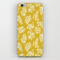 Mustard Floral iPhone & iPod Skin