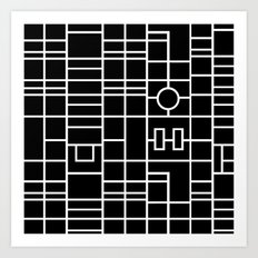Map With Roundabout Art Print