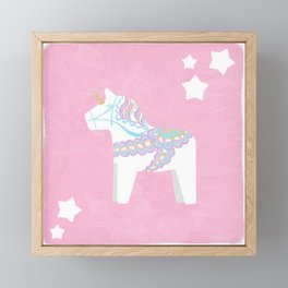 Unicorn Dala Framed Mini Art Print
