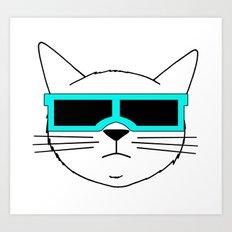 Cool Cat 2 Art Print
