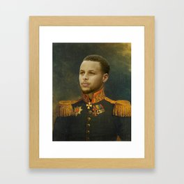 Steph Curry Classical Painting Framed Art Print