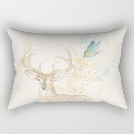 Deer and butterfly Rectangular Pillow
