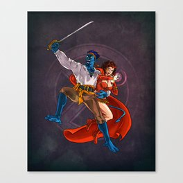 Nightcrawler & Scarlet Witch Canvas Print