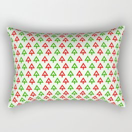 Pattern with Christmas trees Rectangular Pillow