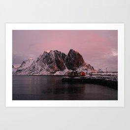 Sunrise in Lofoten Art Print
