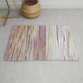 Shimmering Gold, Pink, and Coral Sunset Rug