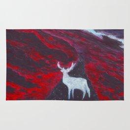 White Deer Rug
