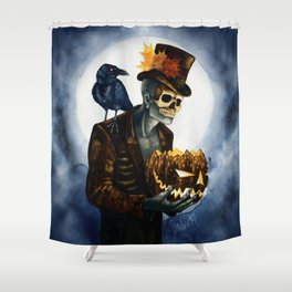 Shadow Man 4 Shower Curtain