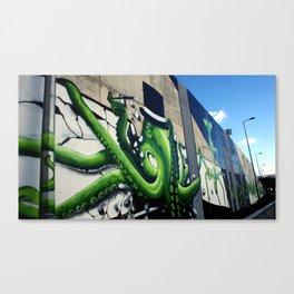 """Green Octopus"" Canvas Print"
