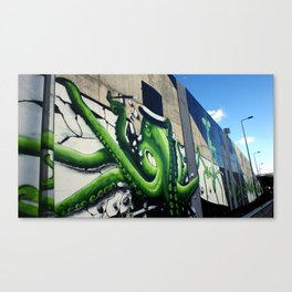 """Green Octopus"" Canvas Print"