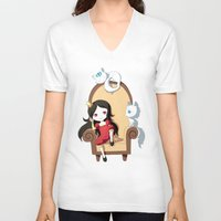 princess V-neck T-shirts featuring Princess by Freeminds