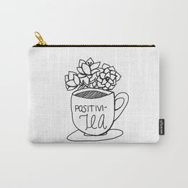 Positivi-Tea Cup with Flowers Carry-All Pouch