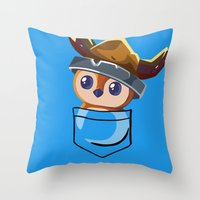 warcraft Throw Pillows featuring Viking Pepe! by SlothgirlArt