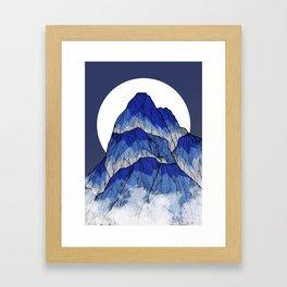 The highest peak Framed Art Print