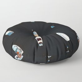 Anchored Boats  Floor Pillow