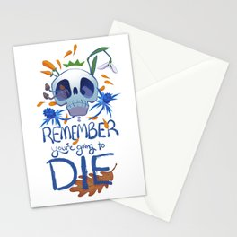 You're Going to DIE - White Stationery Cards