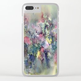 Impressionistic Watercolor of Sweet Peas Clear iPhone Case