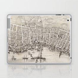 Vintage Pictorial Map of Newburyport MA (1894) Laptop & iPad Skin