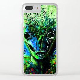 Split-face Green Clear iPhone Case