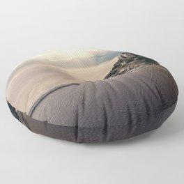 Mont Saint Michel island, Southern France Floor Pillow