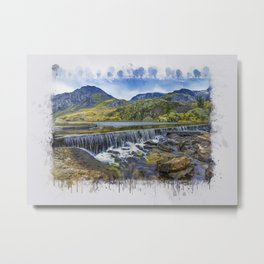 Snowdonia Tryfan Painting Metal Print