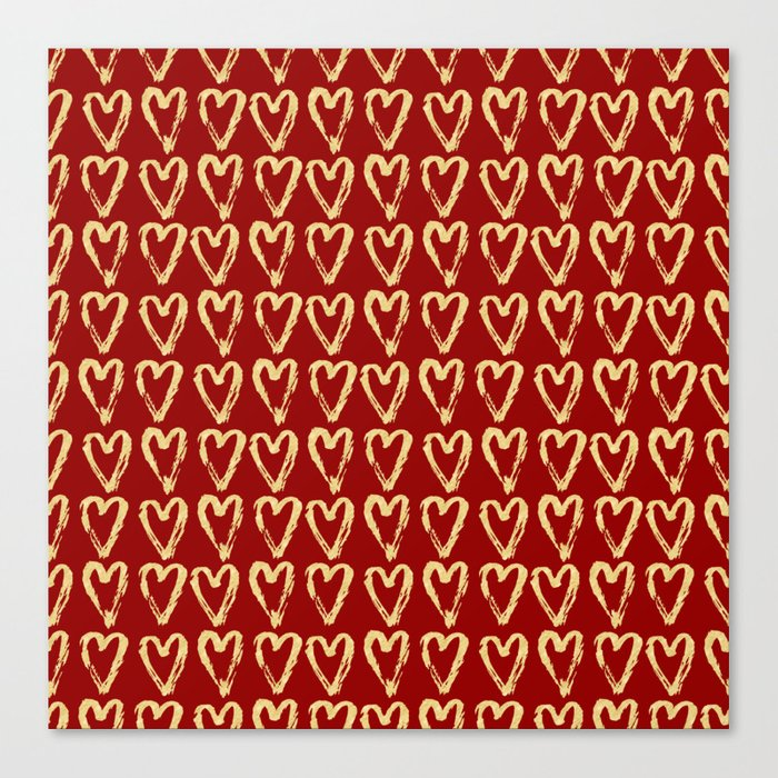 Hearts Of Gold Canvas Print