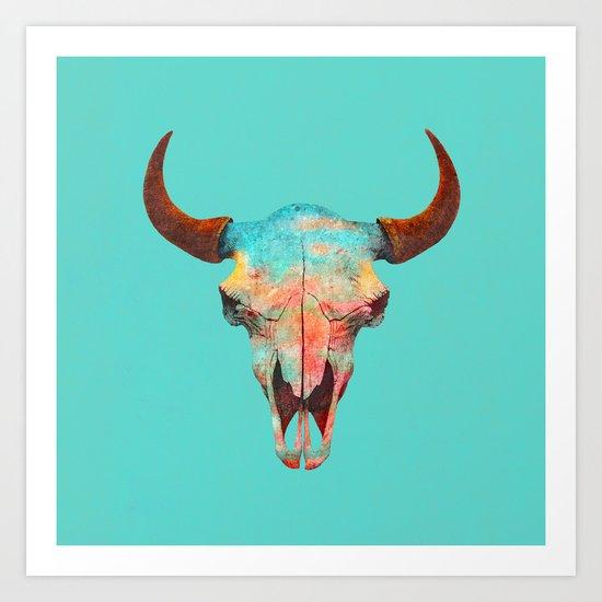 Turquoise Sky Art Print