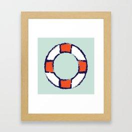 lifeguard buoy aqua #nauticaldecor Framed Art Print