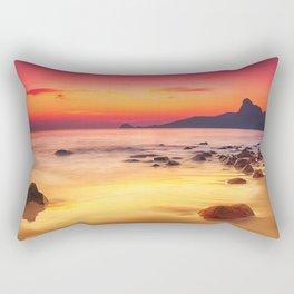 Sunrise over the Beach Rectangular Pillow