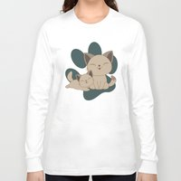 mew Long Sleeve T-shirts featuring Mama, Mew...Mew... by HK Chik