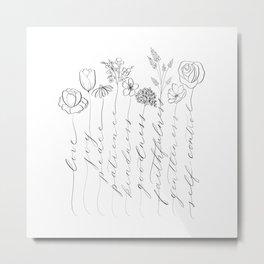 Fruit of the Spirit black/white Metal Print