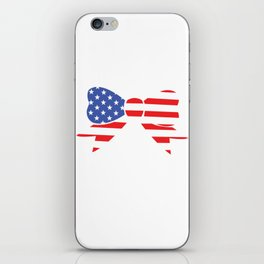 America Bow Graphic Patriotic 'Merica T-shirt iPhone Skin