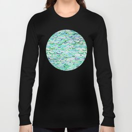 Marble Mosaic in Mint Quartz and Jade Long Sleeve T-shirt
