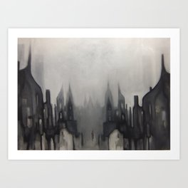 Lowry can you hear, we're still playing 'in the mood' up here Art Print