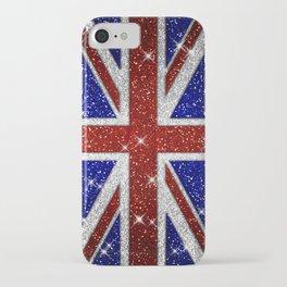 Glitters Shiny Sparkle Union Jack Flag iPhone Case