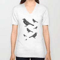 raven V-neck T-shirts featuring Raven by Rebexi