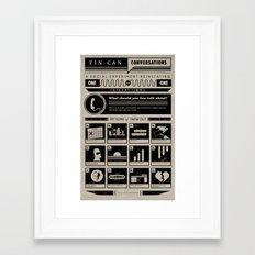 Tin Can Conversations Poster Framed Art Print