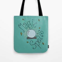 Magic Spells and Crystal Ball Digital Art Tote Bag