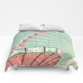 Pink and mint nursery composition Comforters