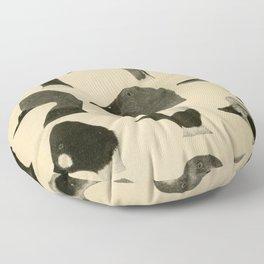 Vintage Duck Heads Floor Pillow
