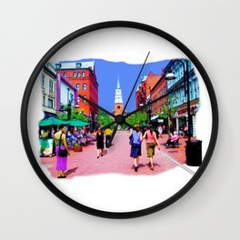 Vermont Street Painting Wall Clock